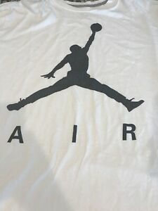 Jordan-Brand-Air-Jordan-White-amp-Black-T-Shirt-Men-039-s-Size-XXL