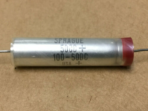 FIXED SPRAGUE  500D107M050DH5   500D+ 100-50DC  CAPACITOR 2 PC ELECTROLYTIC