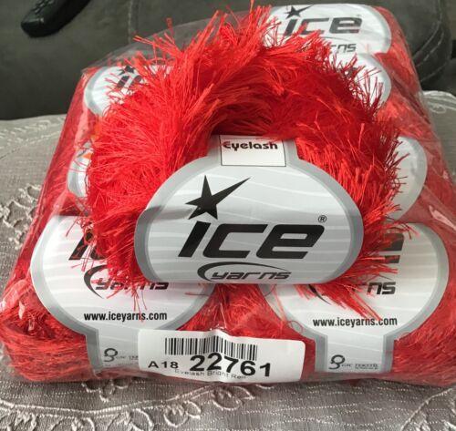 Hilo de pestañas ICE en rojo brillante 50g