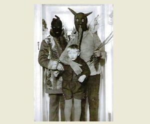 Vintage-Creepy-Family-Halloween-Hoods-PHOTO-Scary-Costume-Freak-Kid-Child-Boy