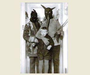 Vintage-Creepy-Family-Halloween-Hoods-PHOTO-Scary-Costume-Freak-Kid-Child-Boy