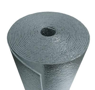 """NASATEK Reflecive Foam Core Pipe Duct Wrap Insulation Kit w// Tape 50sf 24/""""x25/'"""