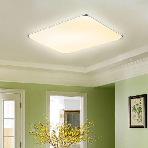12-128W LED Deckenleuchte Deckenlampe Rchteck Decken Lampe Warmweiß Schlafzimmer