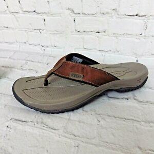 Size US 8 M Eur 41 Olukai OHANA Men/'s Leather Flip Flip Sandals Kona