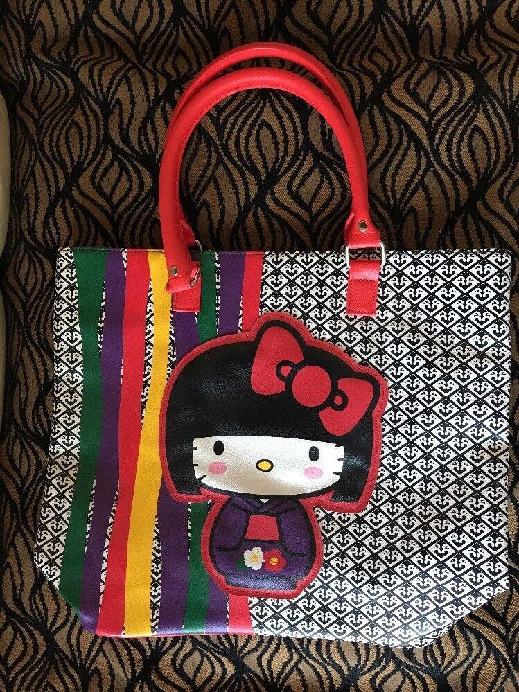 RARE Hello Kitty Leatherette Bag JANM Japanese American National Museum