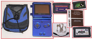 Nintendo GAME BOY ADVANCE SP Cobalt Blue with Accessories and Video Games