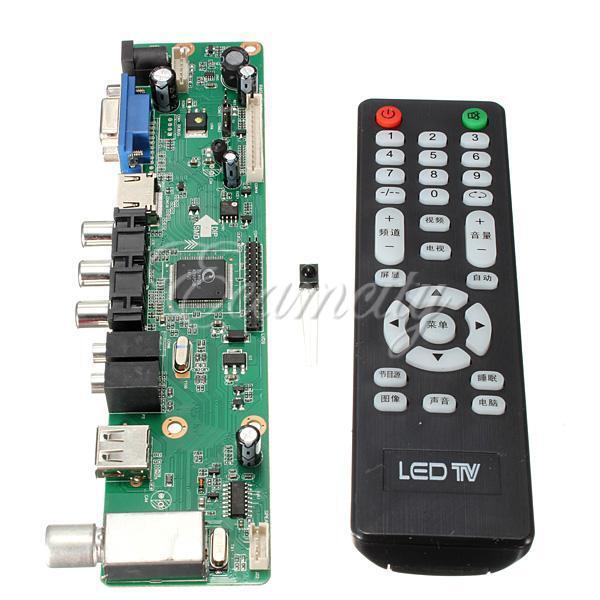Universal LCD Controller Board TV Motherboard VGA/HDMI/AV/TV/USB Interface New