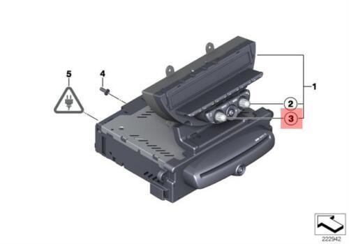 Genuine MINI R55N R56N Audio Radio Navigation Controller Knob OEM 65123456863