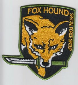 Metal Gear Fox Hound Foxhound Special Force iron//sew on Embroidered Patch