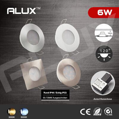 6er Set Led Einbaustrahler 6w Aluminium Wandleuchte Einbau-spots Lampen Ip23/44 Dauerhaft Im Einsatz