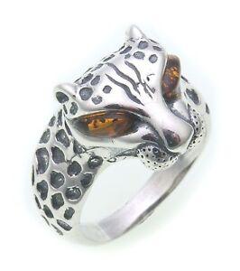 Damen Ring echter Bernstein a d Ostsee echt Silber 925 Sterlingsilber Damen 8553