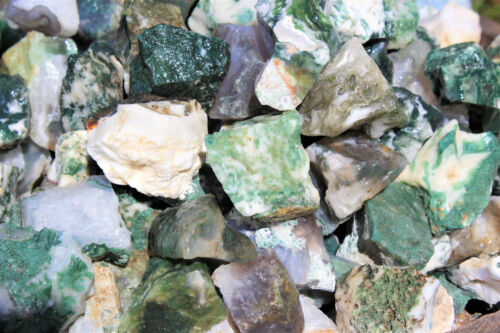 Raw Crystal Rock Mineral Chakra 16 oz 1 lb Bulk Lot Natural Rough Tree Agate