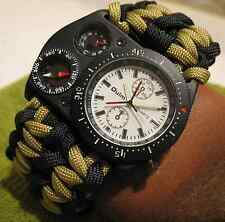 Paracord Survival Watch Thermometer Compass (US Navy Vet Made) Bracelet MUST SEE