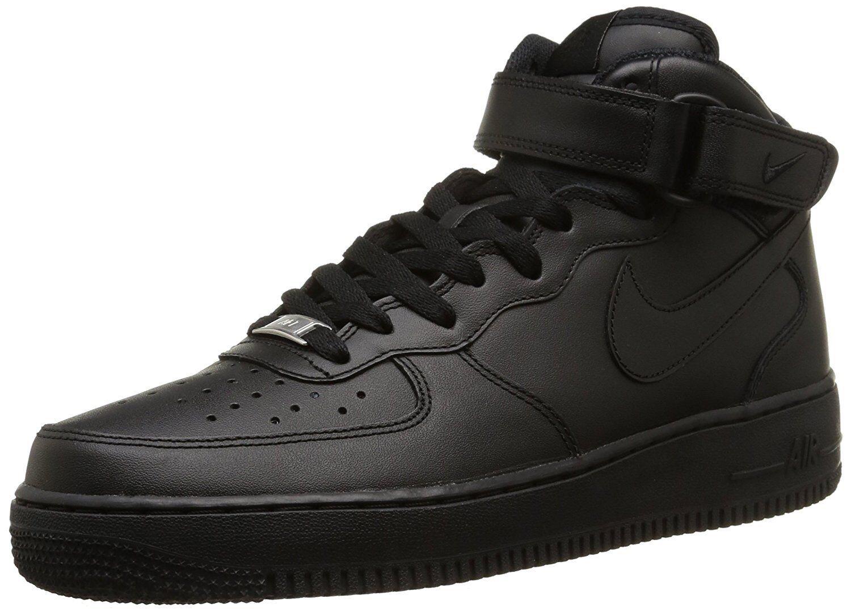 Nike Mens Air Force Black 1 Mid 07 Basketball Shoe Black Force 315123-001 58e2a2