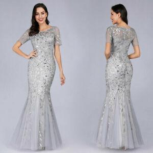 Ever-Pretty-Silver-Bridesmaid-Dresses-Fishtail-Mesh-Applique-Evening-Gown-Maxi
