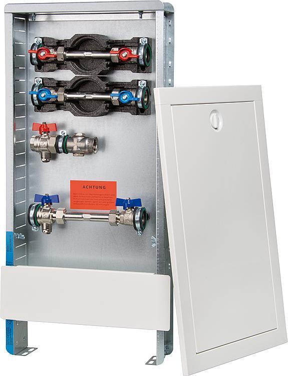 Anschlussstation Unterputz Wohnung Wasserzähler Heizungs- Wärmemengenzähler