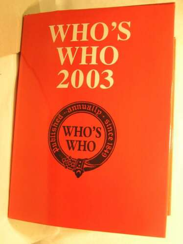1 of 1 - Who's Who 2003, unknown, Very Good Book