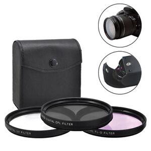 77-mm-3-Piece-Multi-Coated-numerique-HD-Lentille-protecteur-en-verre-Kit-de-Filtre-UV-circulaire