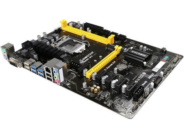 BIOSTAR TB250-BTC LGA 1151 Intel B250 SATA 6Gb/s USB 3.0 ATX Motherboard for Cry