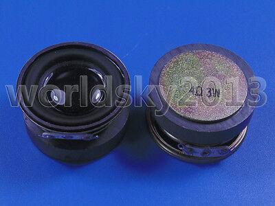 """2pcs 1.5"""" inch 4Ohm 4Ω 3W Full Range Audio Speaker Stereo Woofer Loudspeaker"""