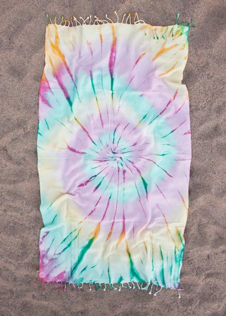 "100/% Cotton Soft Batik Tie Dye Sienna Bath Beach Pool Turkish Towel 67/""x35/"""
