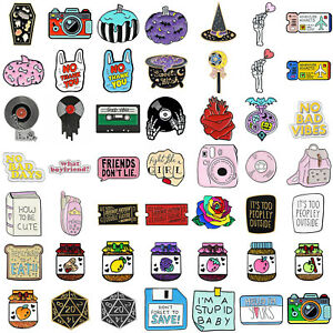 Details zu Enamel Pins Cartoon Animal Fruit Brooches Badge Denim jeans Lapel Pin Cute Gift