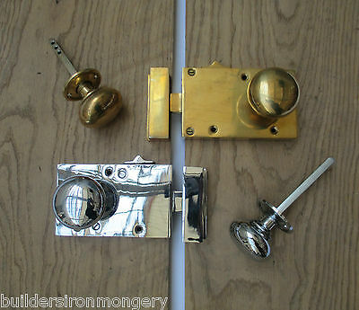 OLD ENGLISH VICTORIAN RETRO STYLE RIM BATHROOM BEDROOM LOCK LATCH KNOB SET