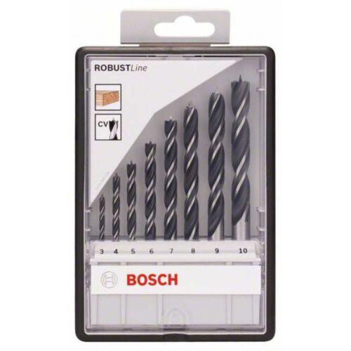 8-teilig 9 4 7 6 3 8 Bosch Holzspiralbohrer-Set Robust Line 5 10 mm