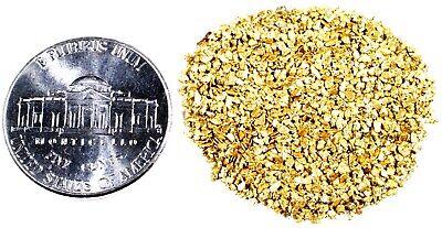 ALASKAN YUKON BC NATURAL PURE GOLD NUGGETS #30 MESH 0.250 GRAMS SMALL FINES