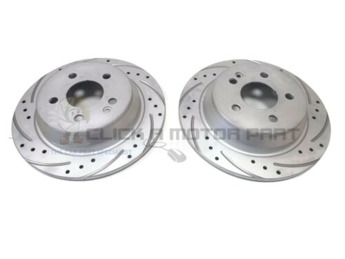 MERCEDES VITO 2004-2014 W639 REAR 2 SOLID BRAKE DISCS DRILLED GROOVED NEW SET