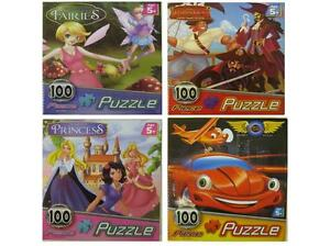 100 pc Jigsaw Puzzle Cars Pirate Fairy Travel Game Kids fynbos Activity Gift