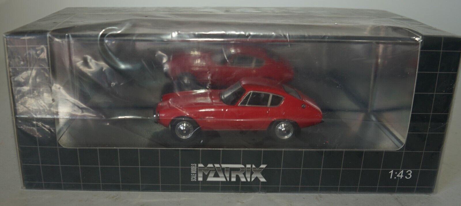 para barato Matrix MX10701-021 Ghia-Fiat 1500 GT COUPE Rood Rood Rood 1964 en rojo en escala 1 43  centro comercial de moda
