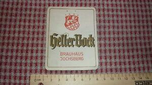 1950s-GERMAN-BEER-LABEL-BRAUEREI-REINDLER-JOCHSBERG-GERMANY-HELLER-BOCK
