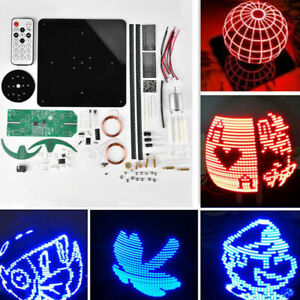 Bewinner DIY LED Electronic Rotary Kit Multiple Patterns//High Speed Rotation//On//Off Button Power Supply//Auto Power Off Electronic Rotatable LED Kit with LED Lamp Beads for Beginners