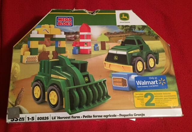 Mega Bloks John Deere Lil Harvest Farm 2 Vehicle Set 80826 Nib For Sale Online