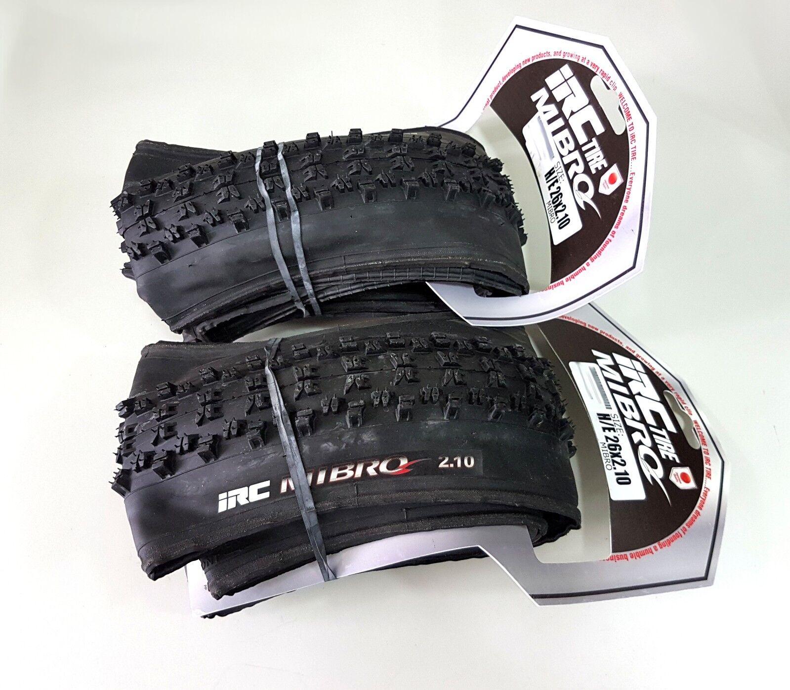 IRC Mibro 26x 2.1 Clincher MTB Bicycle Tire (pair)