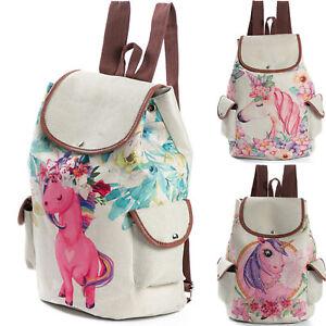 Fashion-Women-039-s-Linen-Travel-Rucksack-Girls-School-Bag-Satchel-Bookbags-Backpack
