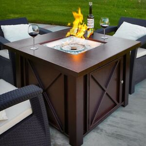 Lpg Fire Pit Table Outdoor Gas Fireplace Propane Heater Patio