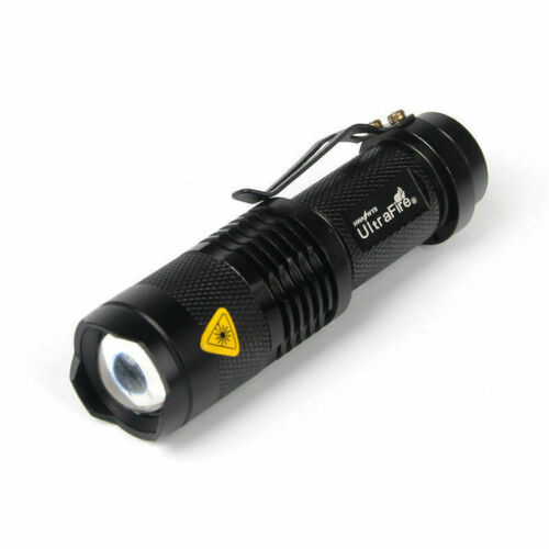 7W 1200LM 3Mode Mini Zoom In//Out Q5 LED 14500//AA Flashlight Torch Camping Light