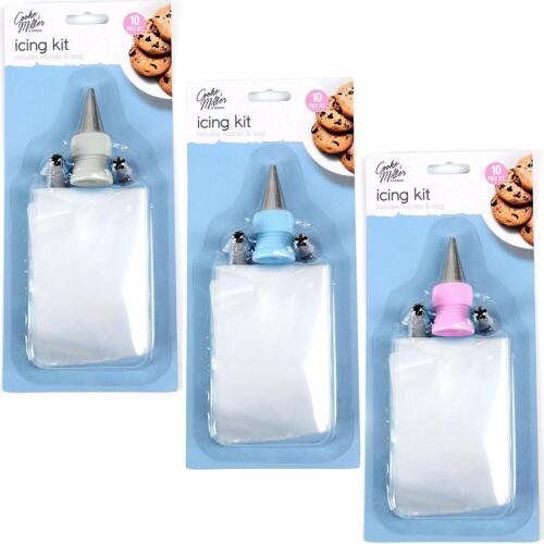 10 Pcs Icing Bag Professional Kit Cakes,Buns,Cupcake Nozels Decoration Tool