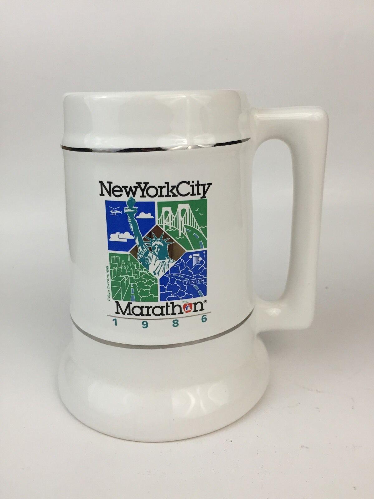 Vintage New York City Marathon 1986 Coffee Mug Beer Stein NY Road Runners Club