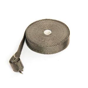 Titanium-Heat-WRAP-10M-10-Ties-30CM-Exhaust-Insulating-Downpipe-Manifold-RAP