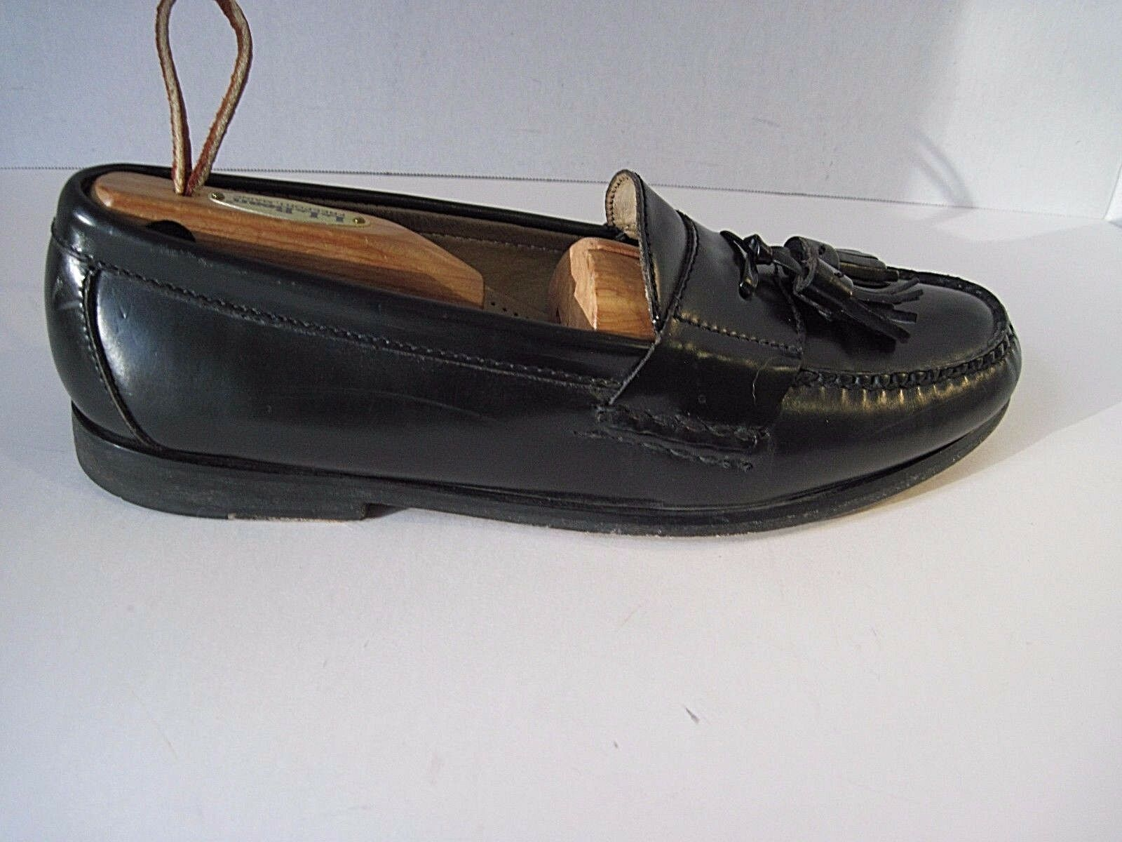 Cole Haan City Men's Black Leather Loafers Tassels Nice Size 9D