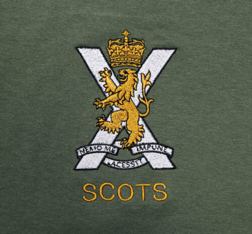 The Royal Regiment Scotland Military T-Shirt with embroidered SCOTS cap badge