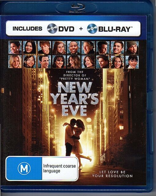 NEW YEAR'S EVE - BLU-RAY REGION B (2012) (NO DVD INCL) LIKE NEW FREE POST