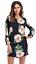 Womens-Flower-Print-long-Sleeve-Top-Blouse-mini-dress-Casual thumbnail 6