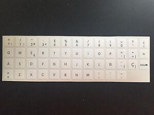 Pegatinas-teclado-APPLE-espanol-Apple-White-Macbook-IMAC-KEYBOARD-Stickers