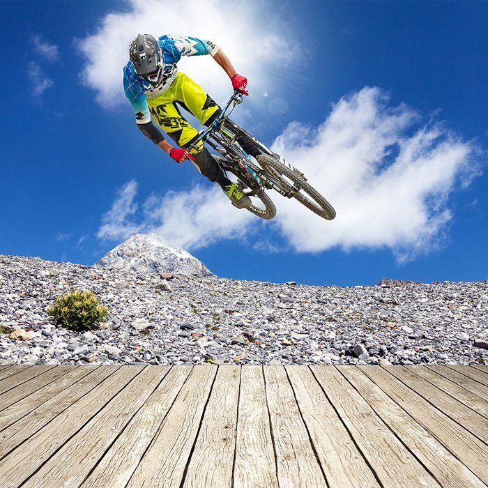 Mountainbike Fototapete Radfahren Sport Tapete Jungen Schlafzimmer Haus Dekor