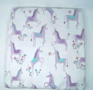 Pbk Pottery Barn Kids Full Size Flannel Flat Sheet Purple