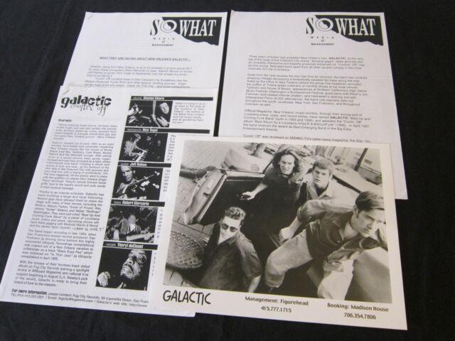 GALACTIC 'COOLIN' OFF' 1996 PRESS KIT--PHOTO